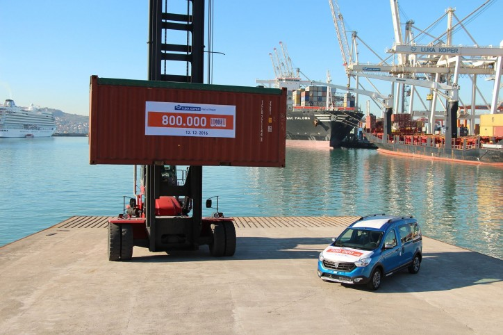 A Record Throughput Of Containers and Cars at Luka Koper Port