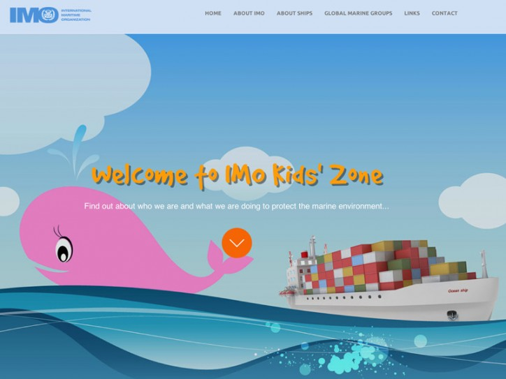 IMO's kid friendly website version shows the Organization's works to protect the marine environment and the atmosphere