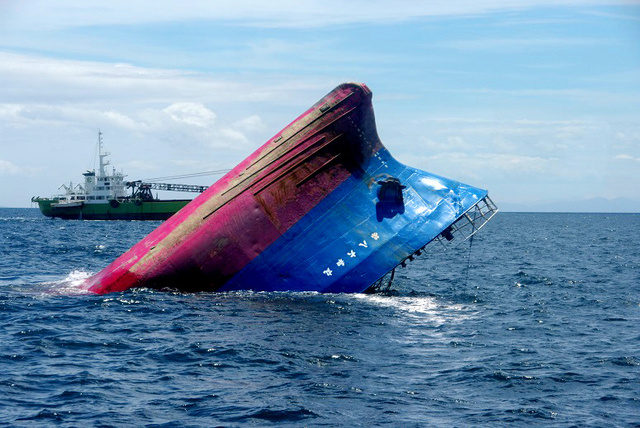 Ship Collision off Ueshima (Video)