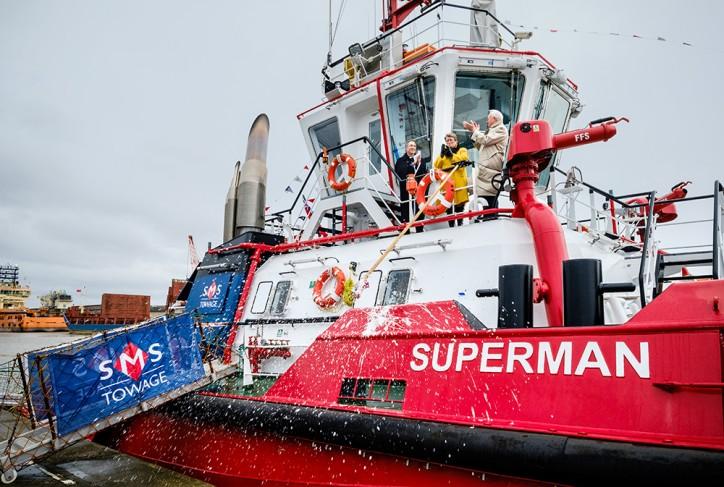 Sanmar Shipyard delivers 7th tugboat to SMS Towage