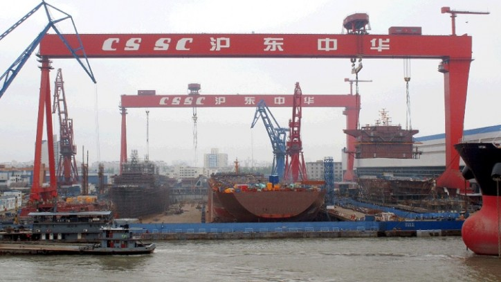 A China State Shipbuilding Corporation shipyard