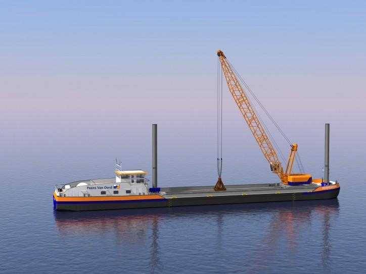 Van Oord orders first LNG-powered crane vessel
