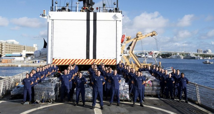 USCG Cutter Escanaba returns after nabbing self propelled semi-submersible vessel smuggling cocaine