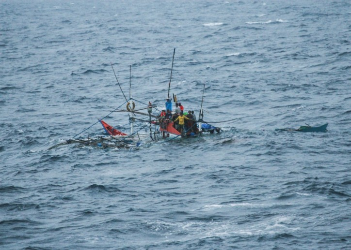 11 Philippine fishermen rescued from sinking boat by US Navy ship