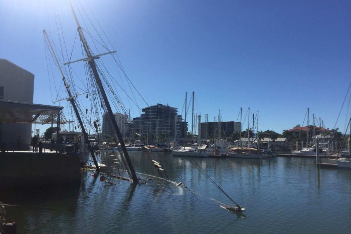 Vandalism suspected as historic tall ship Defender sinks in Townsville, Australia