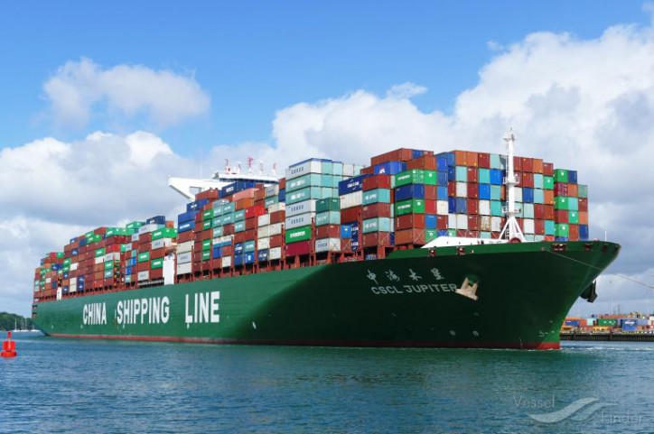 Cosco container ship collides with ship in Vietnam