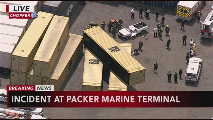 Falling cargo container kills man at Packer Marine Terminal in South Philadelphia