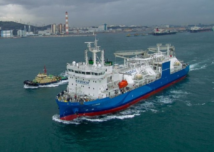 The world's largest LNG bunker supply vessel Kairos started its voyage to Europe