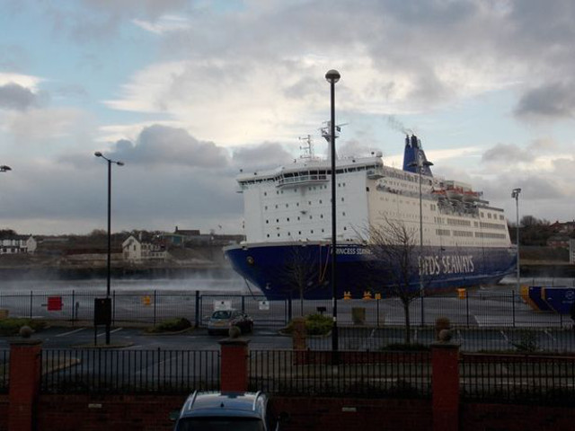 DFDS ferry blown from its North Shields moorings as high winds batter the North East