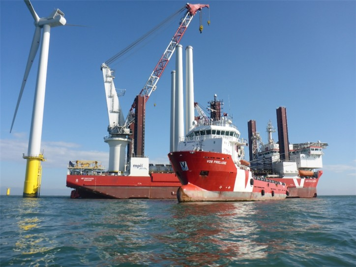 VOS Prelude supplies MPI Discovery at Rampion Offshore Wind Farm