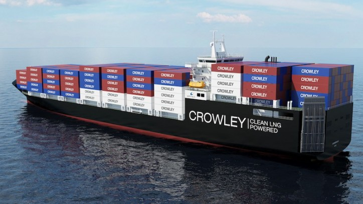 Crowley Selects Fuel Supplier for LNG Containerships