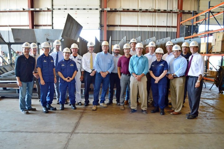 Keel-laying ceremony at Great Lakes Shipyard, Ohio