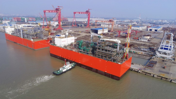 Wison Offshore & Marine announces undocking of the world's first barge-based FSRU