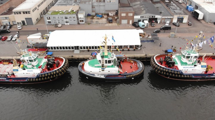 Iskes Towage names twin Damen ASD Tugs 3212 'Mars' and 'Mercurius'