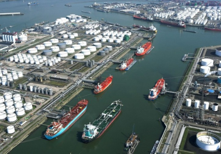 Europe's Biggest Oil Hub Fills as Ship Queue at Seven-Year High