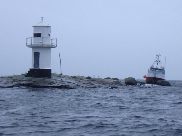 Photo report: Survey ship ran aground off Nordmaling, Sweden