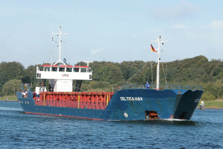 Fire aboard Cargo ship Celtica Hav off Aberdeen Port