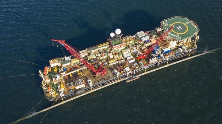 Nord Stream 2 Vessel Working near Rügen