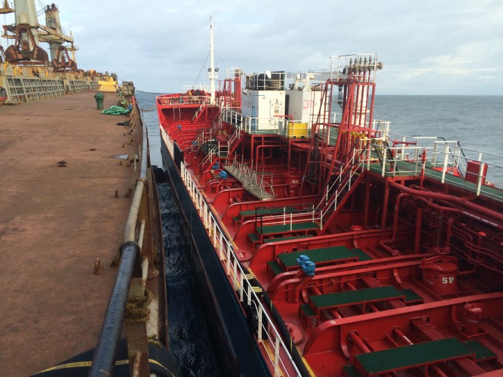 556 cubic meters of oil drained from bulk carrier grounded off Sweden