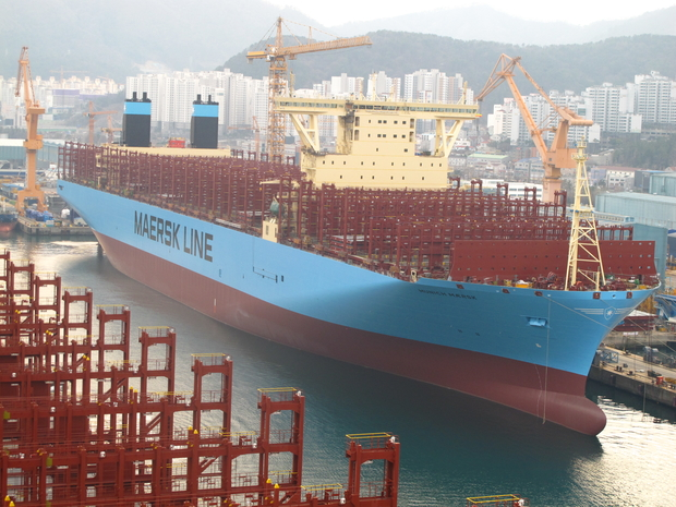 GE's Fuel-Efficient Marine Technology Powers the World's Largest Container Vessels by Maersk