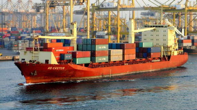German boxship arrested second month in Guinea, obstructed to leave, because of its unknown status