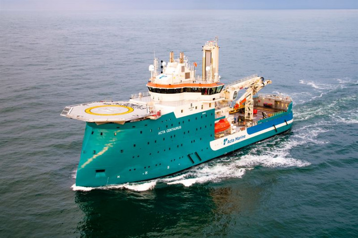 Wärtsilä hybrid propulsion will enhance fuel efficiency and sustainability of Construction Support Vessel Acta Centaurus
