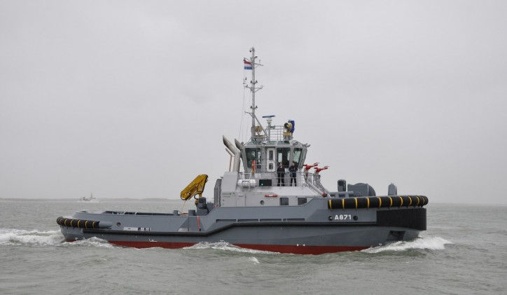Damen delivers its first hybrid tug boat to the Royal Netherlands Navy