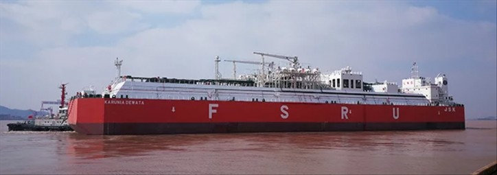 PaxOcean delivers largest FSRU built in China to Indonesia-based Jaya Samudra Karunia