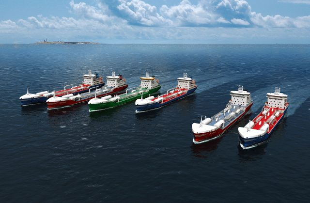 "The Swedish merchant fleet increases with the addition of several vessels, part of Sweden's ""Blue Growth"" initiative"