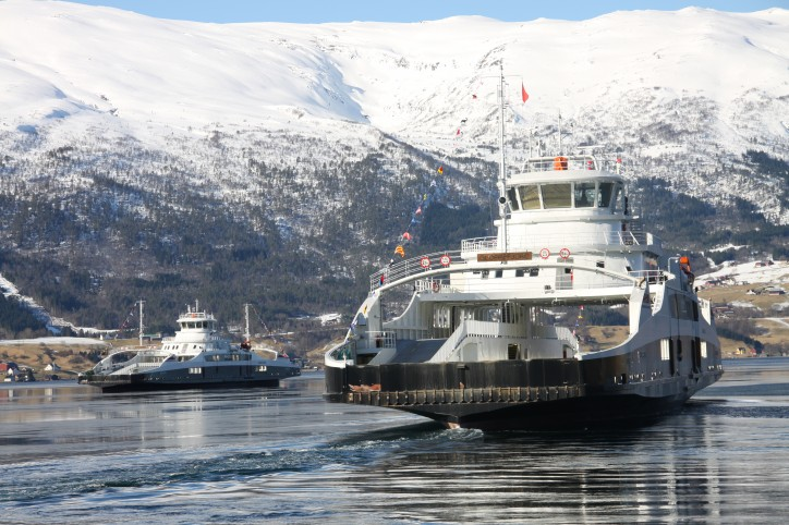 Multi Maritime-designed battery electric ferries MF Gloppefjord and MF Eidsfjord named in Sandane