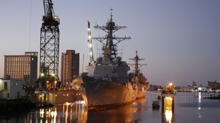 BAE Systems' San Diego Shipyard to Tandem Dry-dock Two Destroyers