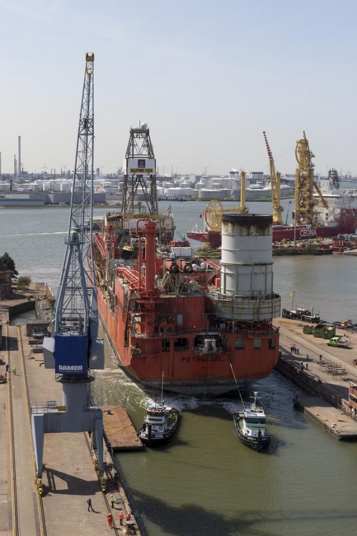 FPSO Petrojarl I for EPC upgrade in Damen Shiprepair Rotterdam