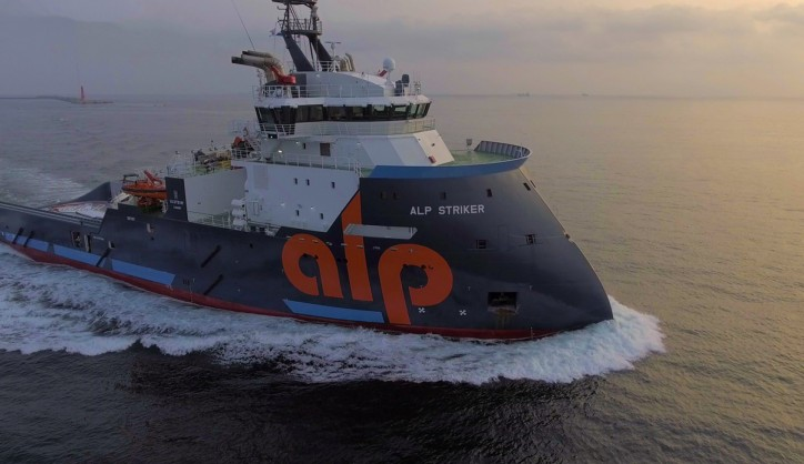 The ALP Striker has been delivered to ALP Maritime Services