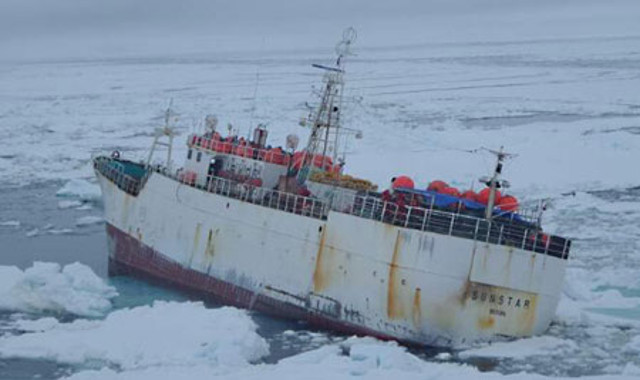 Korean fishing vessel rescued in Antarctic sea