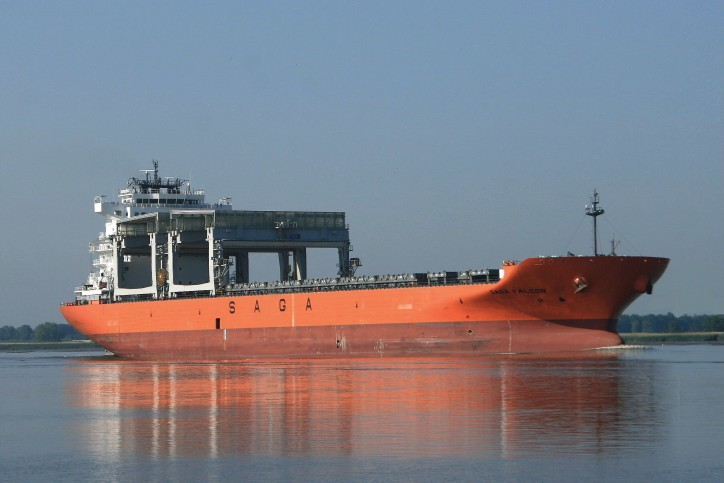 Saga Falcon aground