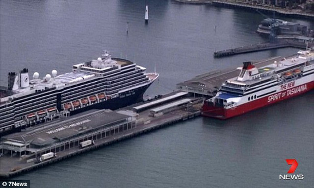 Two cruise ships in Melbourne evacuated as bomb squad investigate suspicious smell (Video)