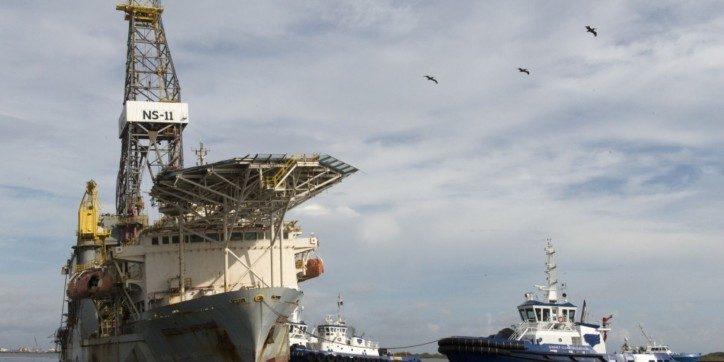 U.S. Coast Guard monitors recovery of grounded drill ship near Corpus Christi