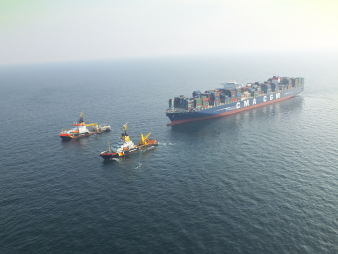 CMA CGM and Havariekommando test ultra-large container vessel towing capabilities