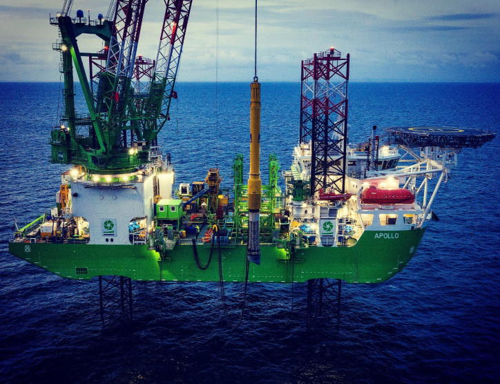 Piling installation at Moray East offshore wind farm crosses halfway point