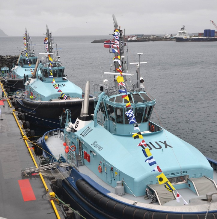 Robert Allan Ltd.'s RAstar 4000-DF Class Escort Tugs Dux, Pax, Audax named in Hammerfest