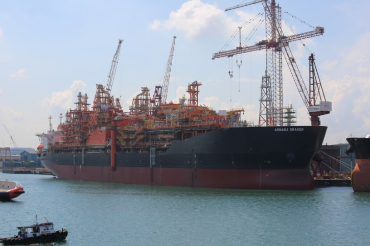 EnQuest's KRAKEN FPSO Vessel Has Left The Shipyard For Deep Water Anchorage