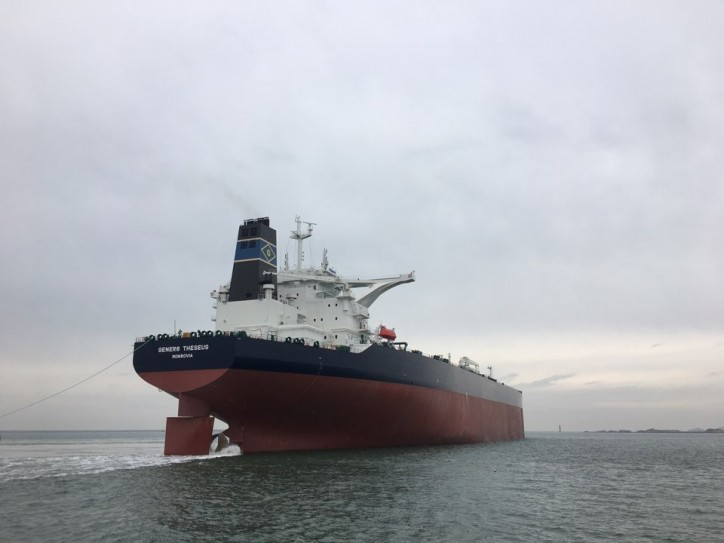 Gener8 Maritime Takes Delivery of the Gener8 Theseus