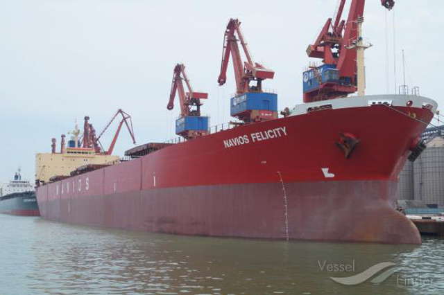 800 tons of wheat lightered from NAVIOS FELICITY confiscated as contraband