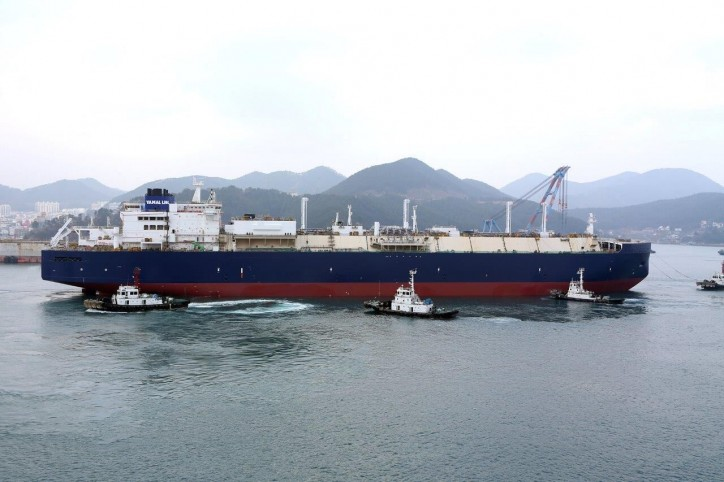 DSME Okpo shipyard launches first ice class LNG carrier for Yamal LNG project