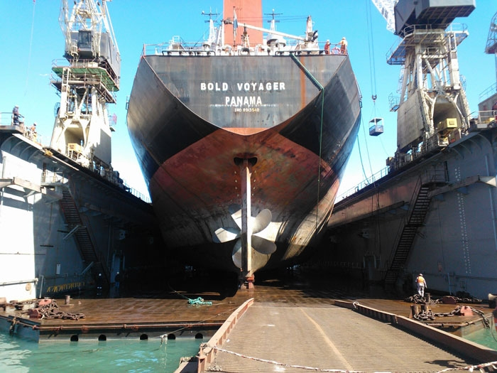 Walvis Bay Shipyard Reports Successfully Drydocking Its Very First Panamax Ship