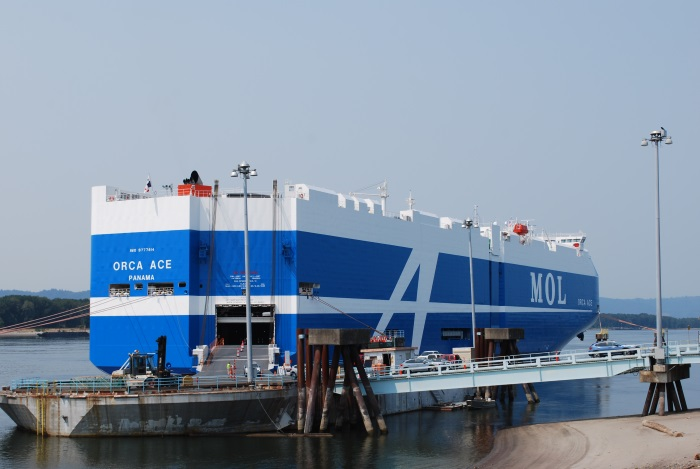 Vehicles carrier Orca Ace calls Port of Vancouver USA on her maiden voyage