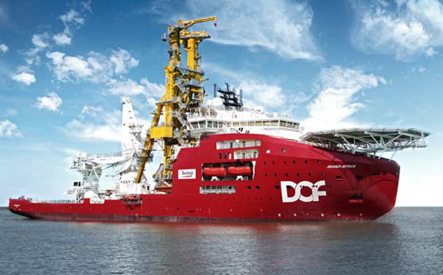 DOF Subsea takes delivery of Skandi Africa and commenced on a 5 year time charter contract to Technip