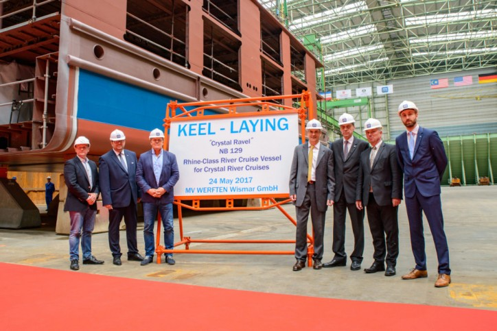 Ceremonial keel laying for two more river cruise vessels at MV WERFTEN
