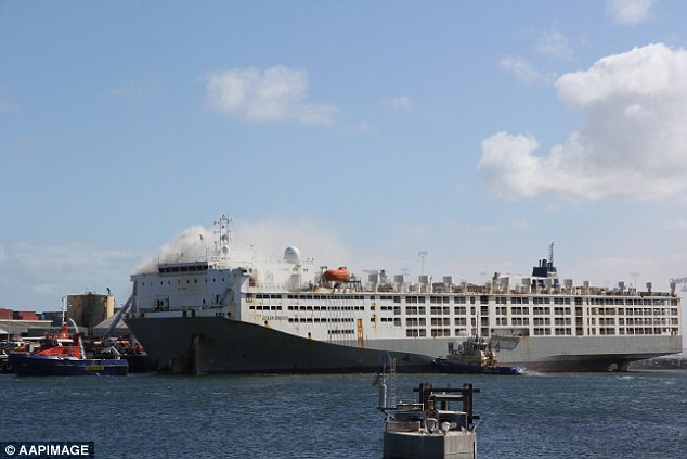 World's largest livestock carrier caught fire at Fremantle, one crew member in critical condition 5