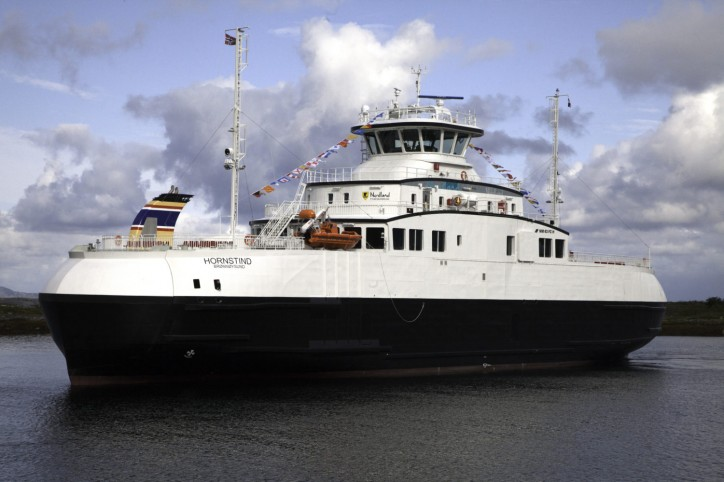 Spotted: Torghatten Trafikkselskap's new ferry MF Hornstind named in Bronnoysund, Norway